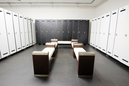 Interior of a modern cloakroom Stock Photo