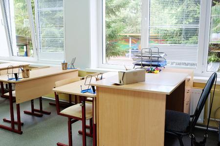 pedagogical: Interior of an empty school class