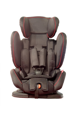 anatomic: Baby car seat isolated under the white background