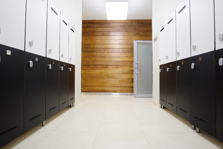 cloakroom: Interior of a modern cloakroom