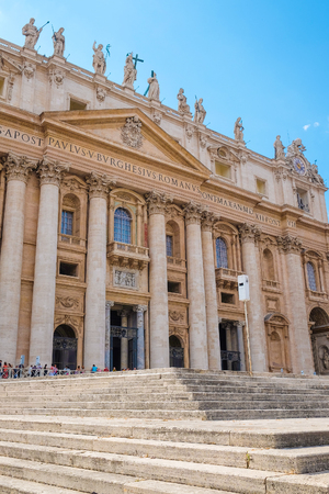 Rome, Italy - August, 7, 2016: Saint Peters Basilica in Rome, Italy Editorial
