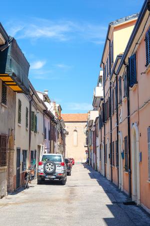rimini: Rimini, Italy - August, 7, 2016: Central part of Rimini, resort town in Italy