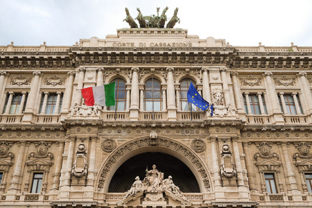 ROME, ITALY -AUGUST, 7, 2016: The Palace of Justice in Rome, Italy. Editorial