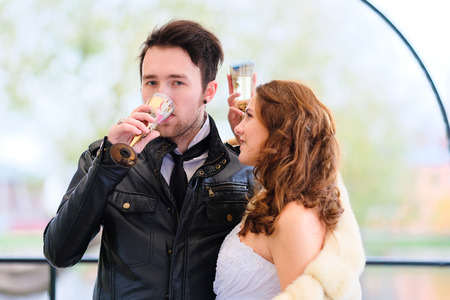 New married couple portrait Stock Photo