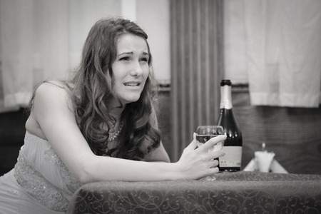 Portrait of a fiance in a sadness Stock Photo