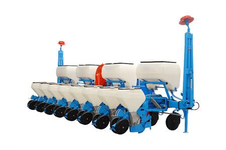 seeding-machine isolated under the white background Stock Photo