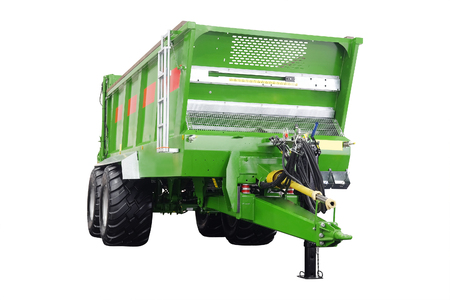 agricultural trailer isolated under the white background