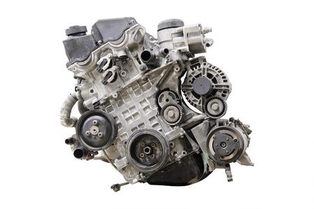 Car engine isolated under the white background