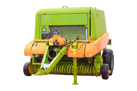 Feed mixer agricultural machine isolated under the white background Stock Photo