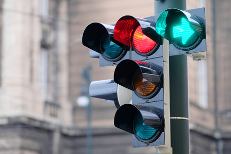 The image of traffic lights Stock Photo