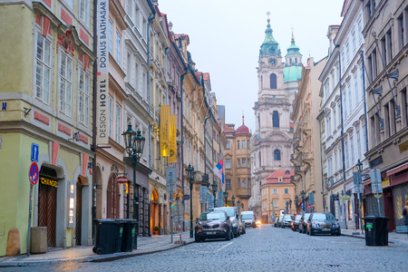 Prague, Czechia - November, 21, 2016: street in Old Prague , Czechia