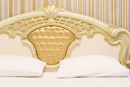 Interior of a hotel bedroom Stock Photo