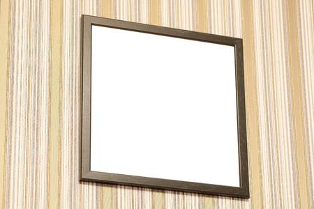 missive: Empty frame from a picture, document, diploma or commendation on a wall Stock Photo