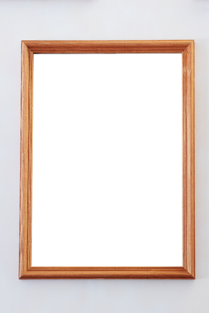 empty frame from a picture document diploma or commendation on a wall stock photo - Empty Frame