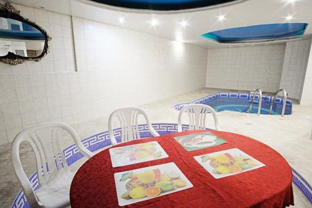 pool halls: Swimming pool in a russian sauna