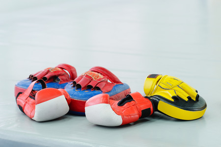 The image of boxing gloves Stock Photo