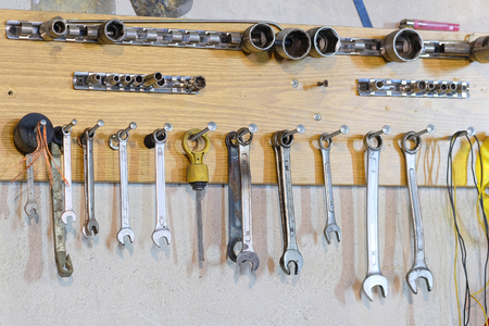 previously: set of previously used wrenches
