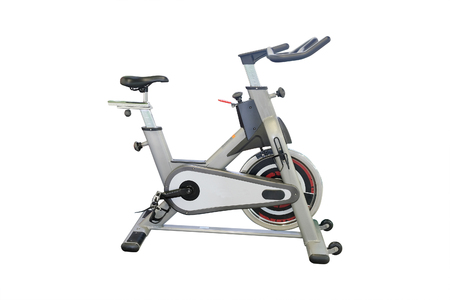 Fitness bikes in a fitness hall