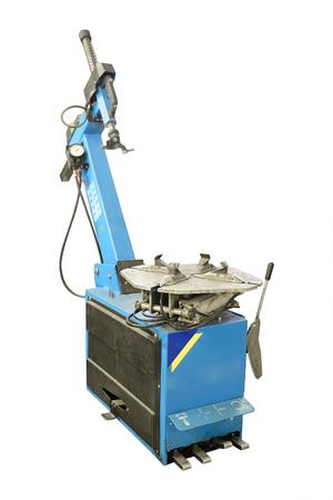 Machine in a tire fitting workshop