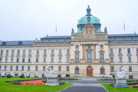 Prague, Czechia - November, 21, 2016: the building in a center of Prague, Czechia