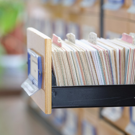 The image of library catalog Stock Photo