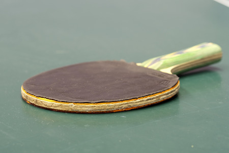 The image of ping-pong table close up Stock Photo