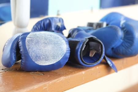 boxing gloveses close up Stock Photo