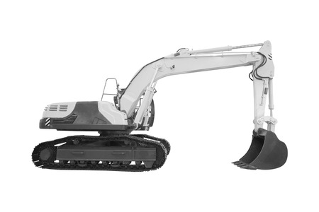 excavator under the white background Stock Photo