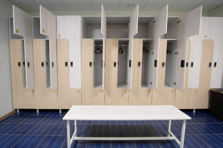 cloakroom: Interior of an empty cloakroom