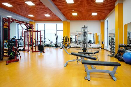 Interieur van een fitness-zaal Stockfoto