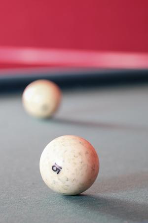 snooker hall: The image of billiard balls