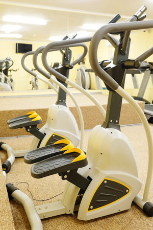 exercice: Fitness hall with fitness bicicles