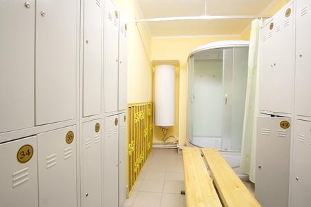 cloakroom: Interior of a cloakroom