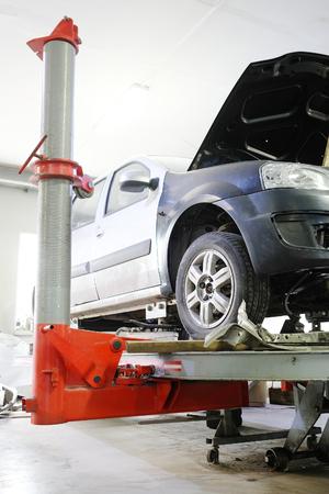 Car in a body shop