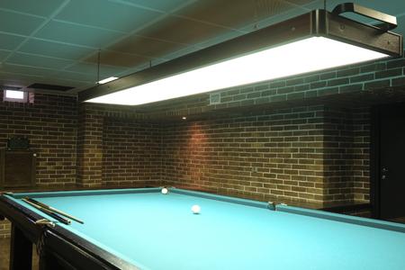 billiards halls: Interior of a billiard hall