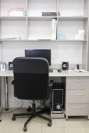 office furniture: Interior of an office working place Stock Photo