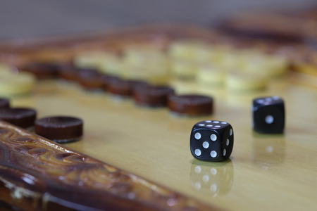 backgammon: backgammon close up Stock Photo
