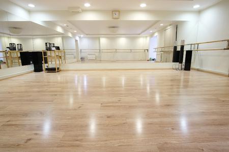 Interieur van een sport- en danszaal