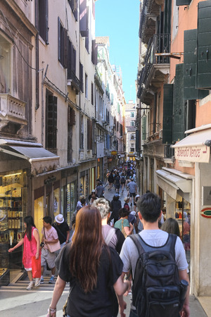 Venice, Italy, May, 27, 2017: croud of people in Venice, Italy