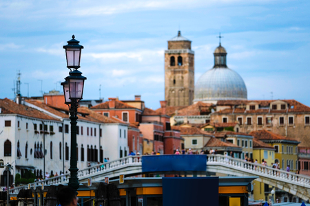 Venice, Italy - July, 28, 2017: Channel in Venice, Italy