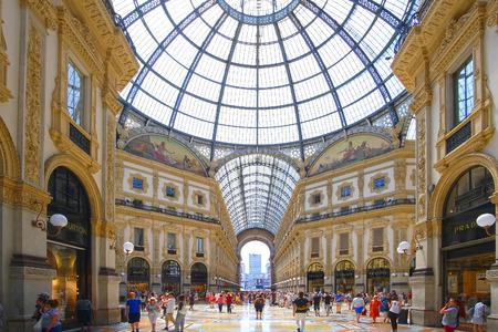 Milan, Italy - June, 19, 2017: interior of Galleria Vittorio Emanuele in Milan, Italy Editorial