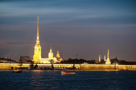 Sankt-Peterburg, Russia - August, 19, 2017: Peter and paul fortress in Sankt-peterburg