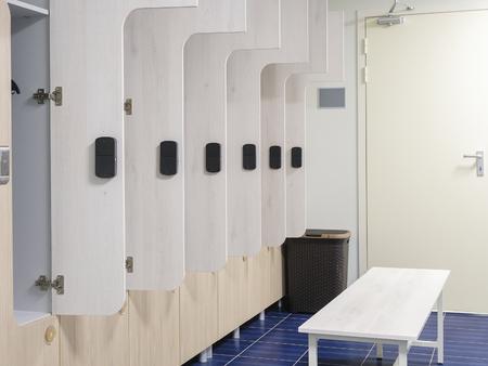 checkroom: Interior of a cloakroom