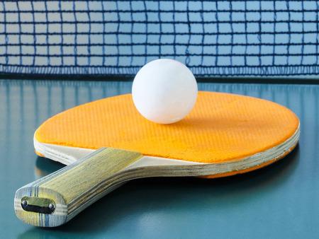 Ping pong racket close up