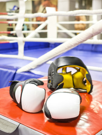 The image of a boxing gloves