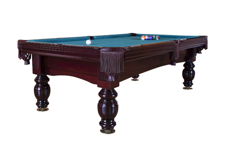 snooker halls: The image of a billiard table