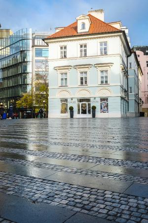 Prague, Czechia - November, 20, 2017: street in an Old town of Prague, Czechia