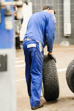 Tyre repair working shop