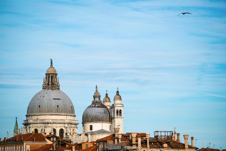 Venice, Italy - July, 27, 2017: landscape with the image of housetops in Venice, Italy Editorial