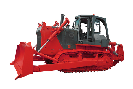 bulldozer under the white background Stock Photo